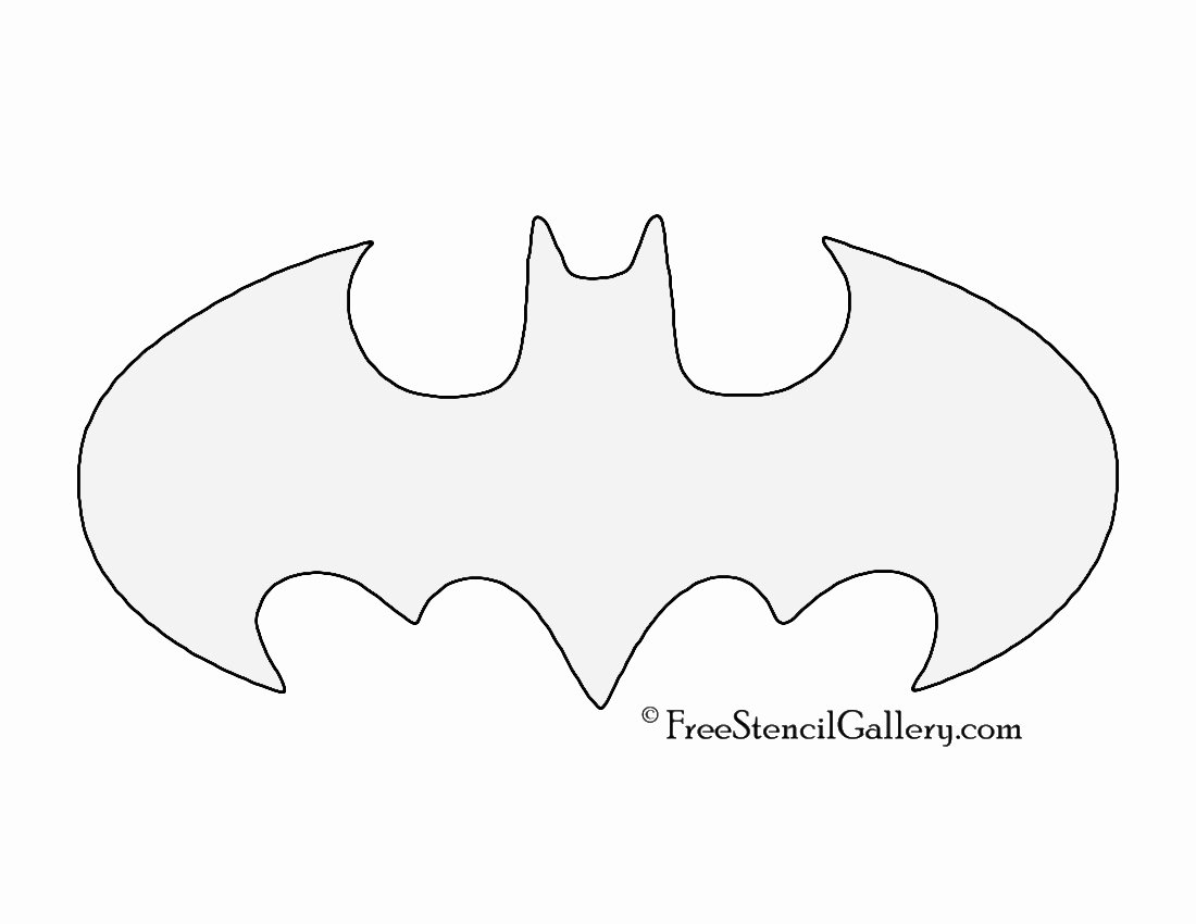 Batman Stencil Printable Beautiful Batman Symbol Stencil