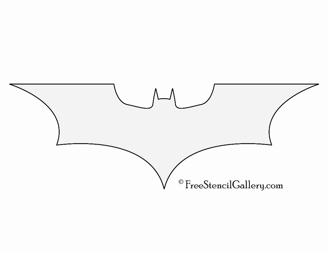 Batman Stencil Printable Inspirational Batman Symbol Stencil