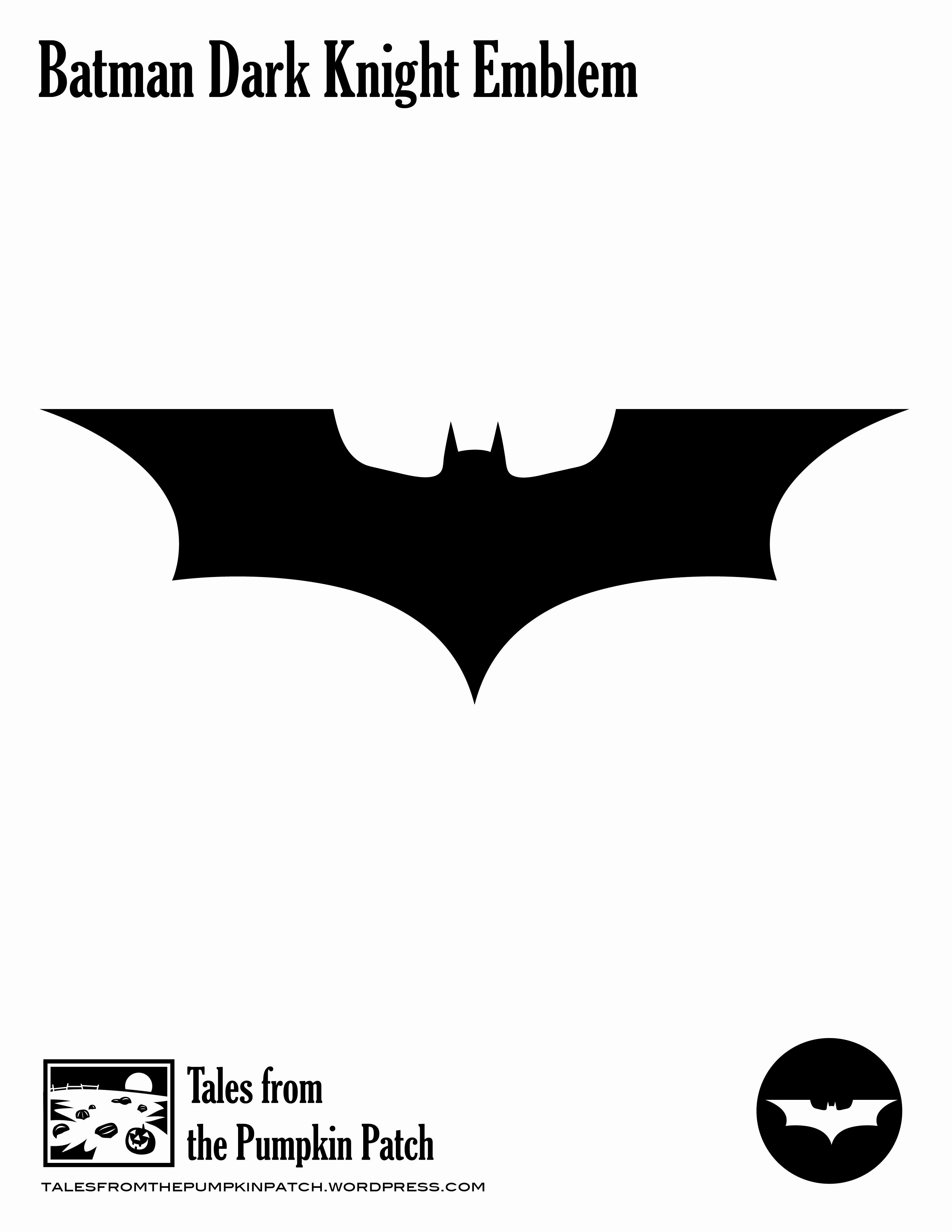 Batman Symbol Pumpkin Stencil Inspirational Batman Dark Knight Emblem – Tales From the Pumpkin Patch