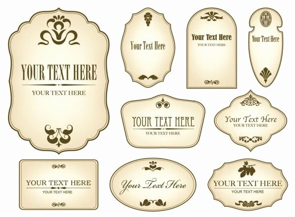 Beer Bottle Neck Label Template Best Of Free Decorative Label Templates