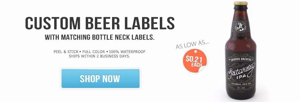Beer Bottle Neck Label Template Fresh Wine Labels Beer Labels & Custom Bottled Water Bottle