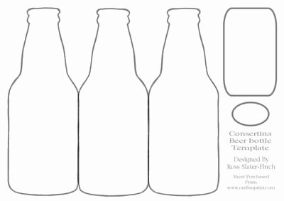 Beer Bottle Neck Label Template Inspirational Beer Bottle Consertina Template On Craftsuprint Designed