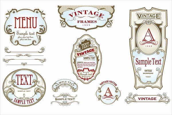 Beer Label Template Word Elegant 12 Vintage Bottle Label Templates Free Printable Psd