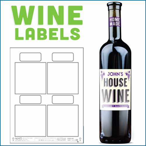 Beer Label Template Word New Blank Wine Labels Water Resistant Peel F with Ease