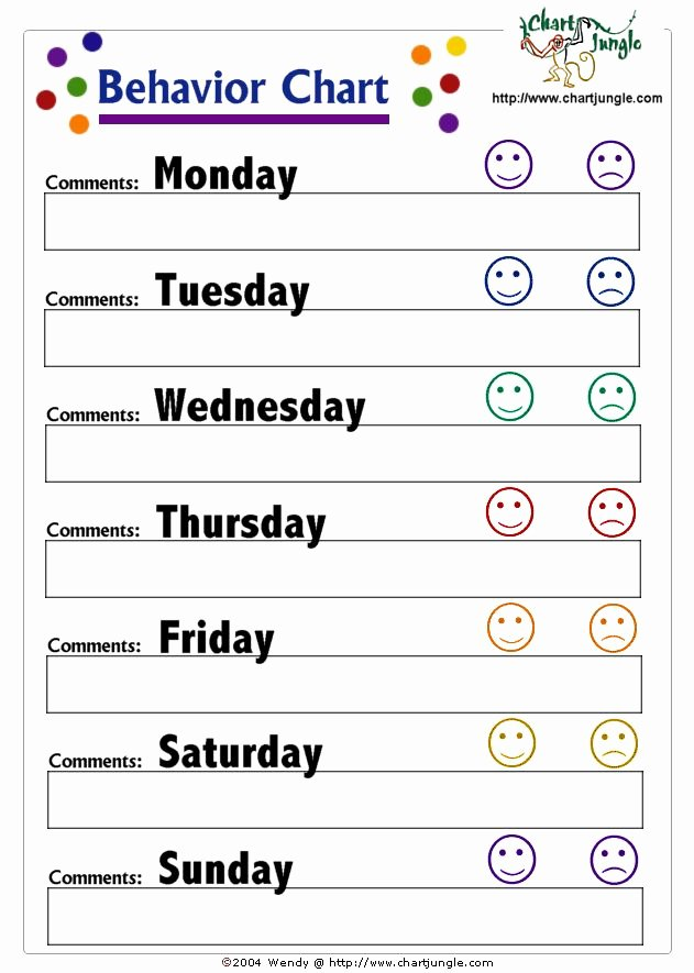 Behavior Plan Template for Elementary Students Best Of Behavior Chart therapist Ideas