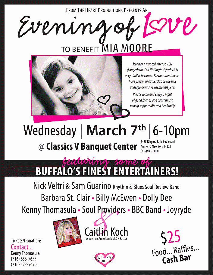 "Benefit Flyer Examples Luxury ""an evening Love"" for Mia Moore Benefit Flyer – Country"