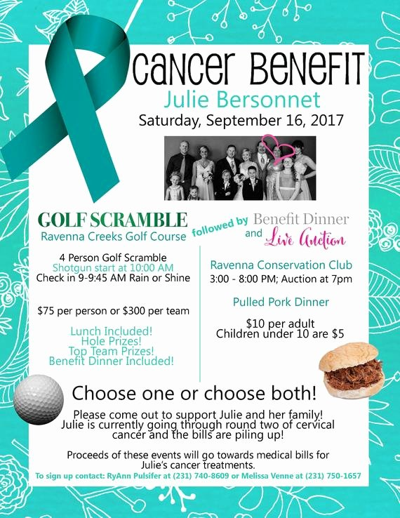 Benefit Flyer Examples New Cancer Benefit Flyer Design