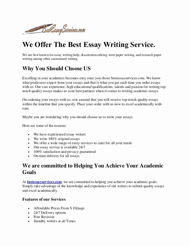 Best Essays Ever Written Awesome the Best Essay Writing Service