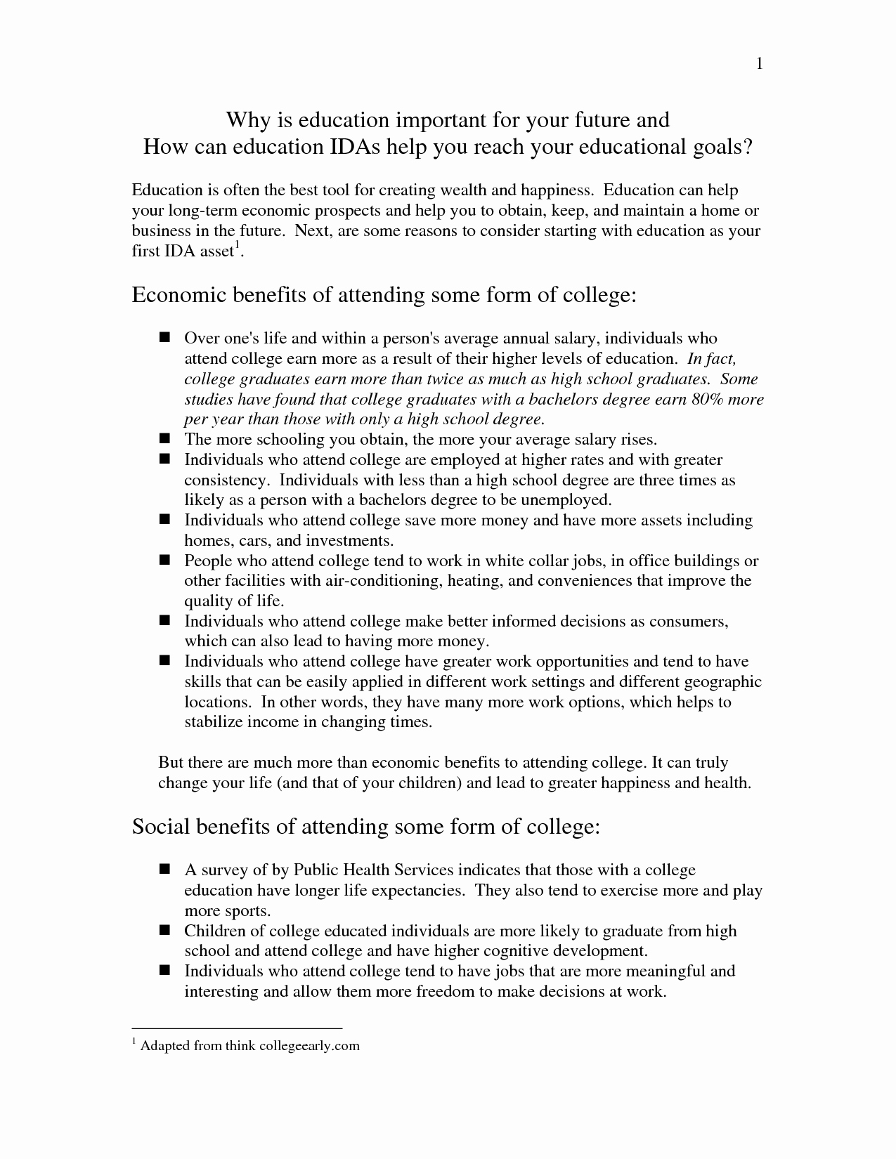 Best Essays Ever Written Elegant 57 Write Essay About Education Educational Goals Essay