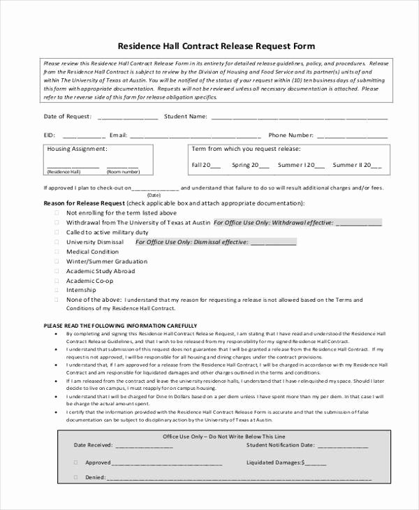 Bid Request form Template Inspirational Contract form Templates