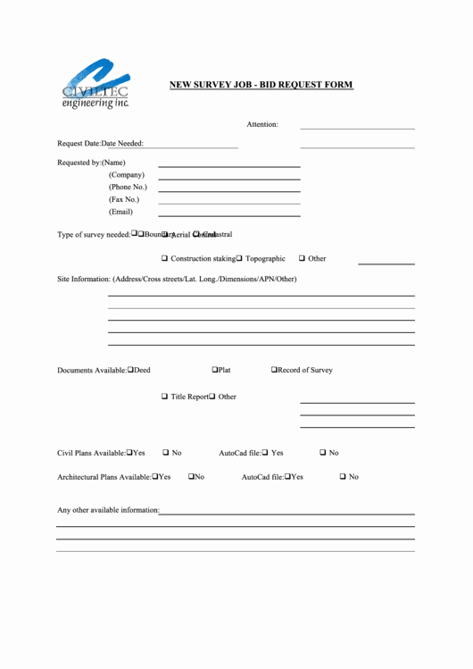 Bid Request form Template New top Job Bid Templates Free to In Pdf format