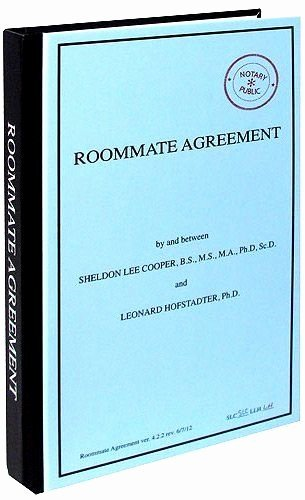 Big Bang theory Roommate Agreement Pdf Beautiful Best 10 Roommate Agreement Ideas On Pinterest