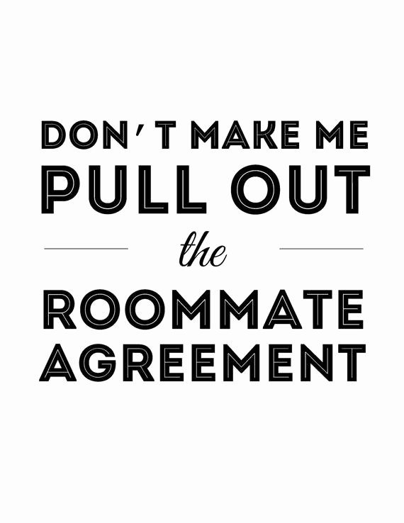 Big Bang theory Roommate Agreement Pdf Fresh Don T Make Me Pull Out the Roommate Agreement Instant