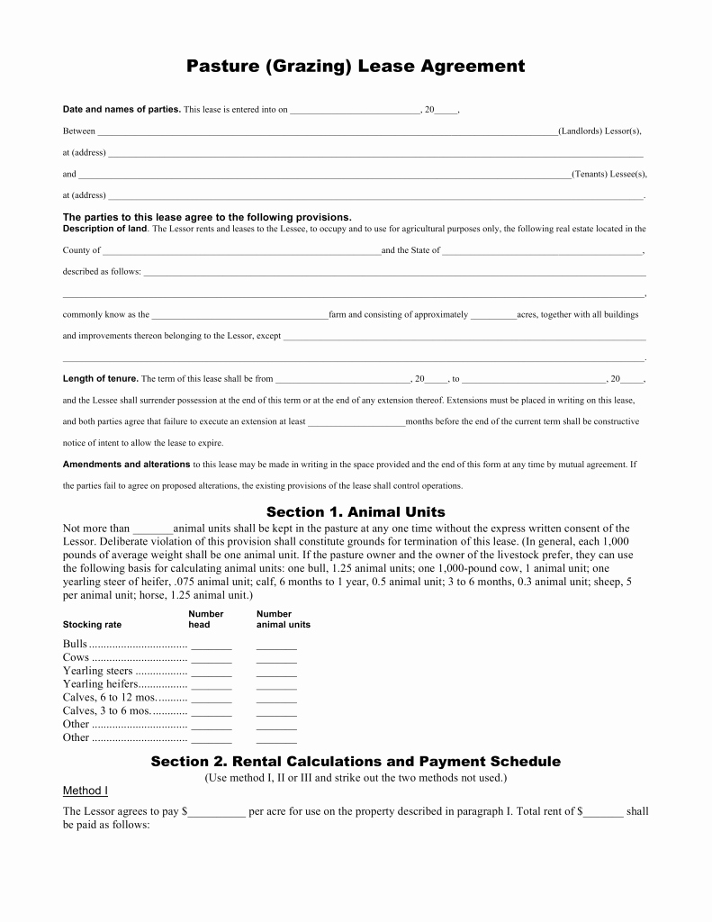 Big Bang theory Roommate Agreement Pdf Inspirational Pasture Lease Agreement