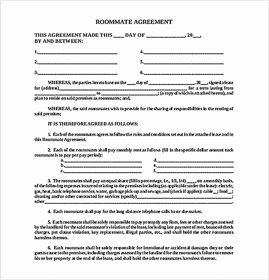 Big Bang theory Roommate Agreement Pdf Unique How to Create Your Own Roommate Agreement Template Easily