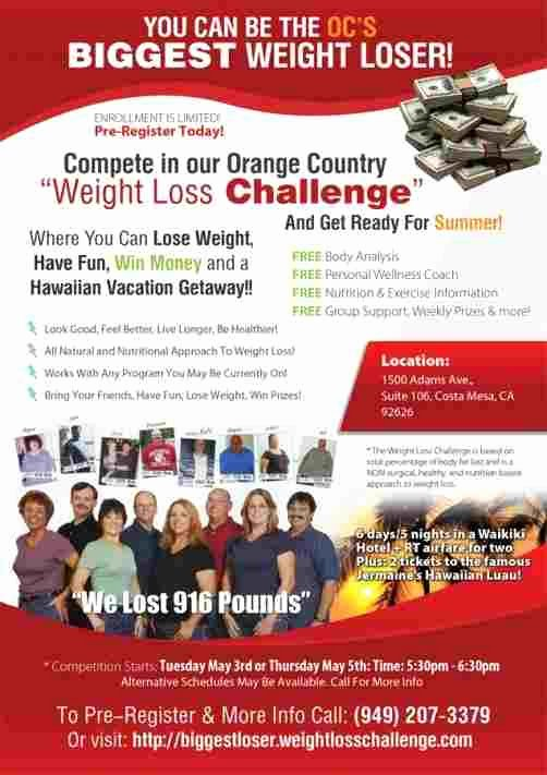 Biggest Loser Contest Flyer Template Beautiful Biggest Loser Flyer Template