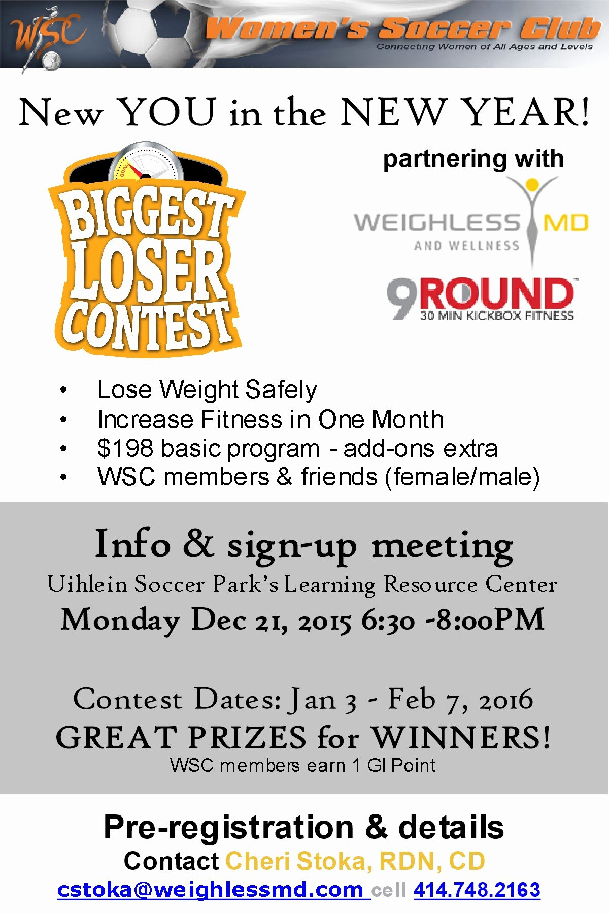 Biggest Loser Contest Flyer Template Beautiful Women S soccer Club