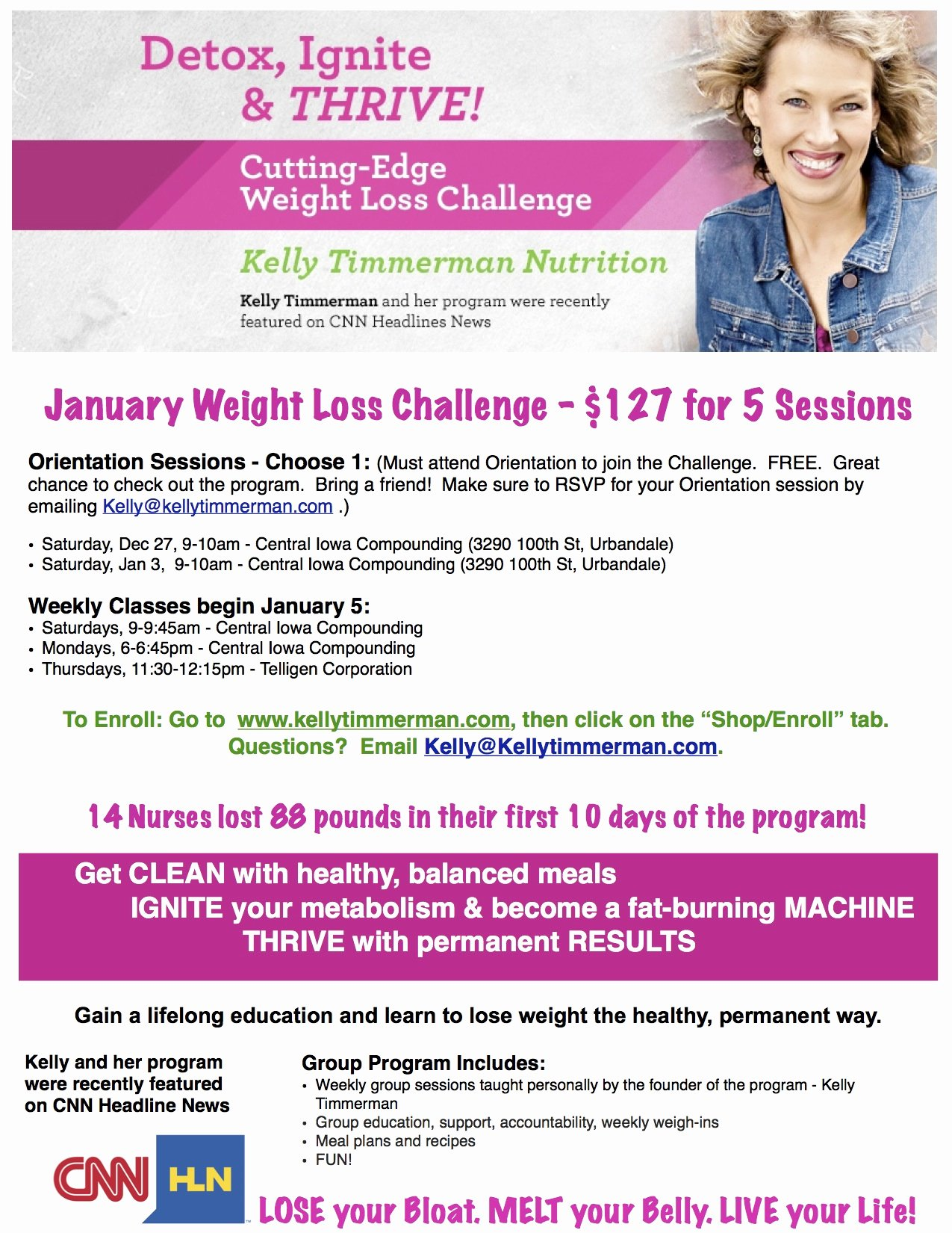 Biggest Loser Contest Flyer Template Inspirational Kelly Timmerman Nutrition