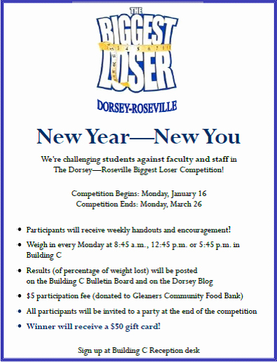 """Biggest Loser Contest Flyer Template Luxury the Dorsey Dish Dorsey Roseville S """"the Biggest Loser"""