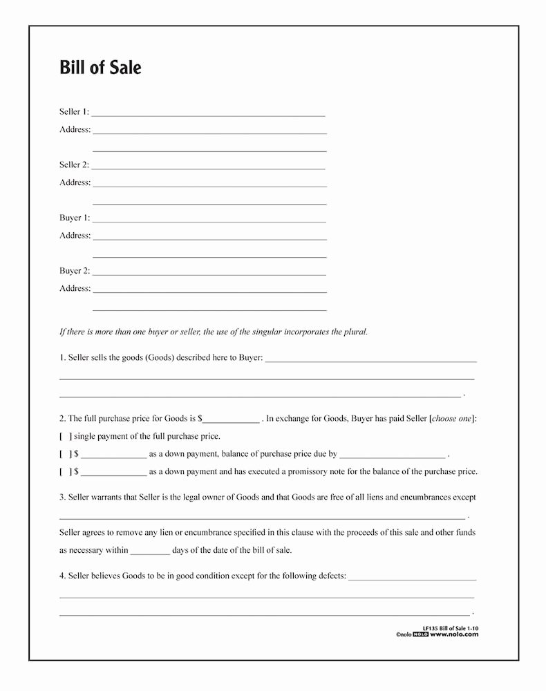 Bill Of Sale Template Free Best Of Bill Of Sale form Template Vehicle [printable]