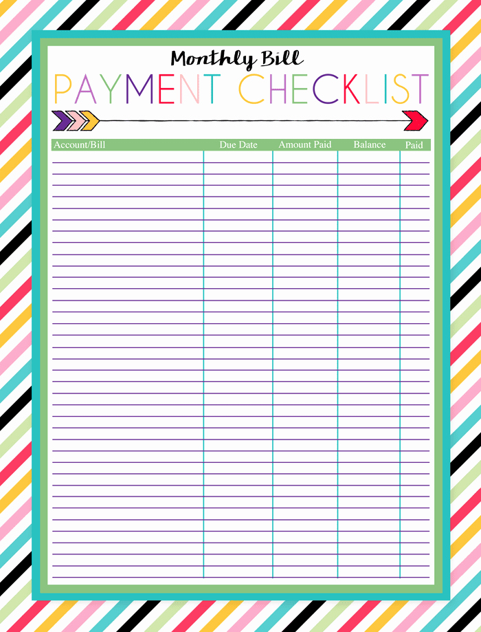 Bill organizer Spreadsheet Beautiful Free Printable Bill Pay Calendar Templates
