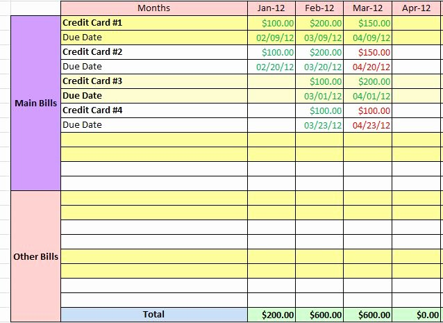 Bill Pay Spreadsheet Elegant How Do You Make Sure Your Bills are Paid Time Fat