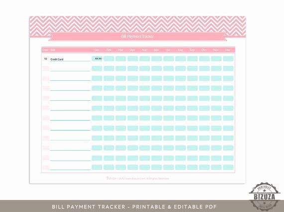 Bill Tracker Excel Template Beautiful Items Similar to Bill Payment Tracker Checklist Printable