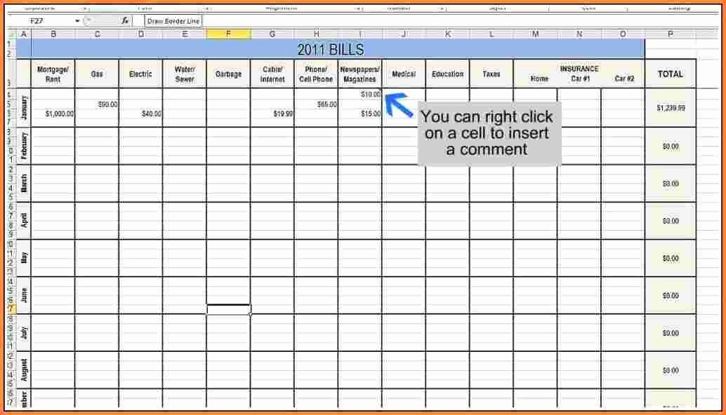 Bill Tracker Excel Template Elegant 11 Bill Tracking Spreadsheet Template