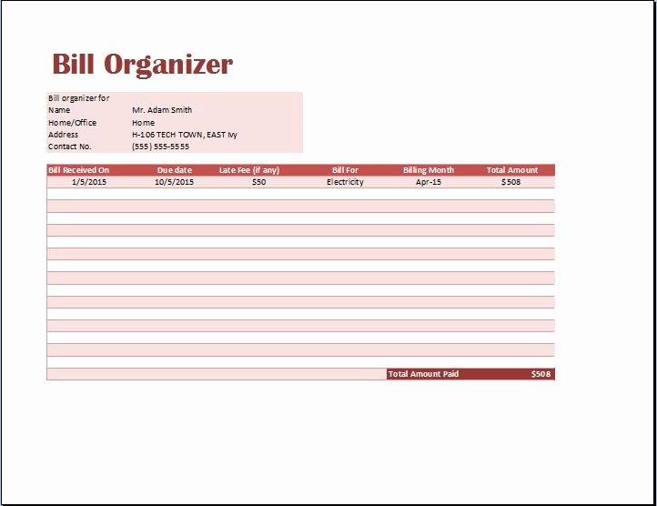 Bill Tracker Excel Template Elegant Halloween 2007 Ceo Sa Prevodom