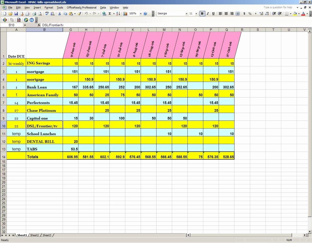 Bill Tracker Excel Template Fresh Excel Spreadsheet for Bill Tracking Spreadsheet Downloa