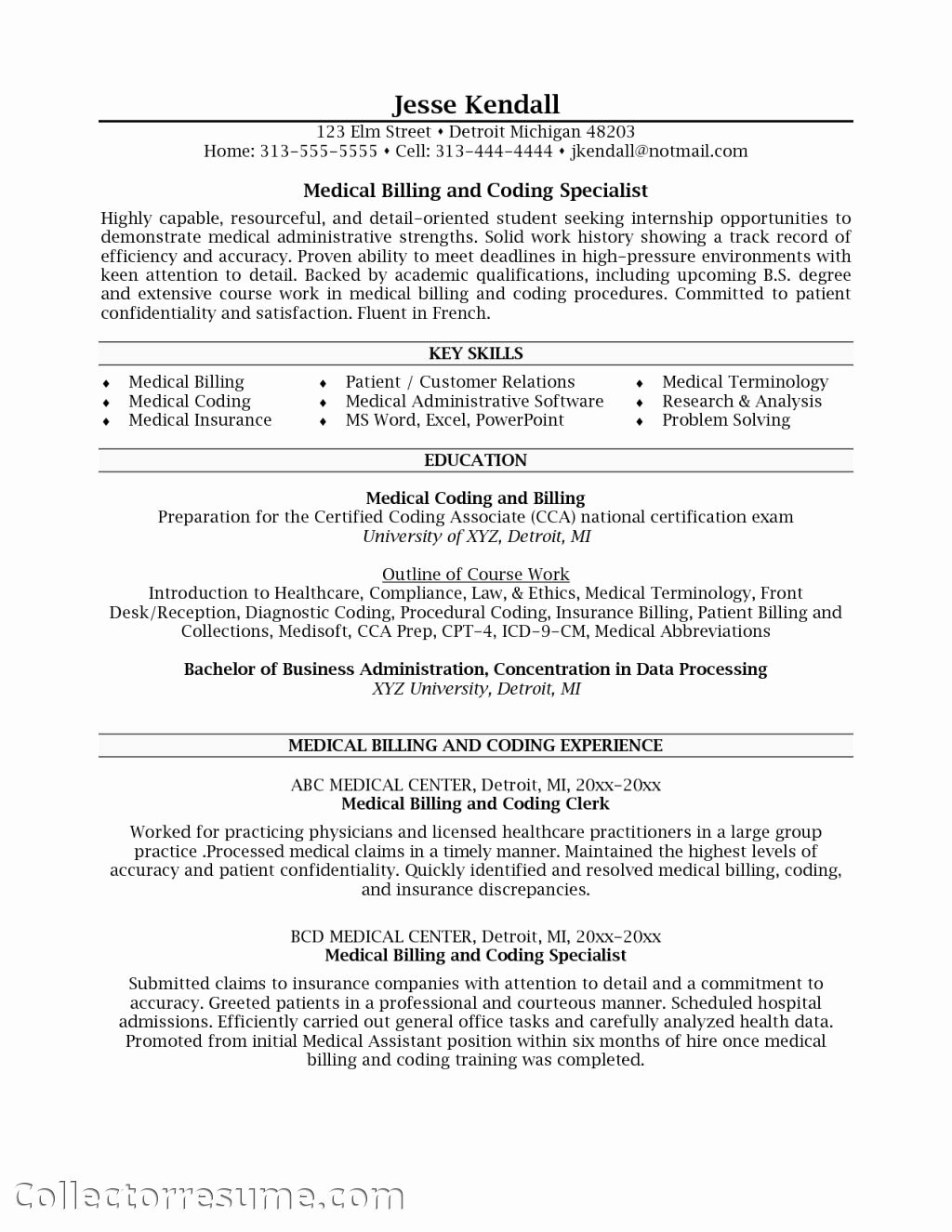 Billing and Coding Resume Beautiful Specialist Health Insurance Health