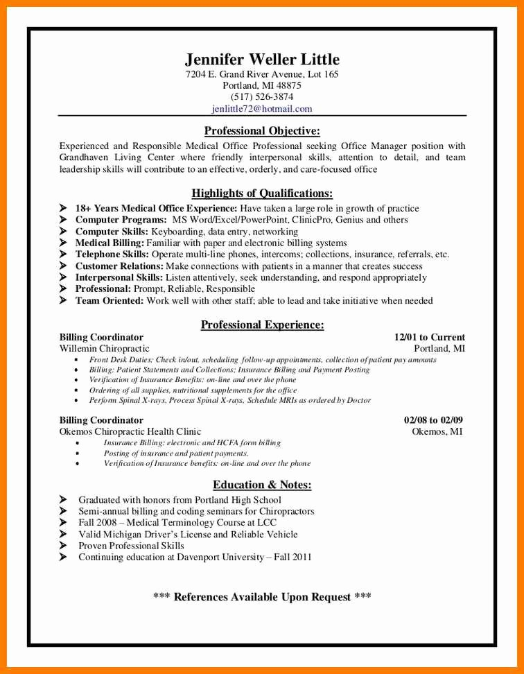 Billing and Coding Resume Lovely 12 13 Examples Of Medical Billing and Coding Work
