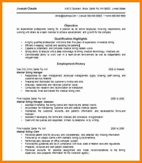 Billing and Coding Resume Lovely 7 Medical Billing and Coding Resumes