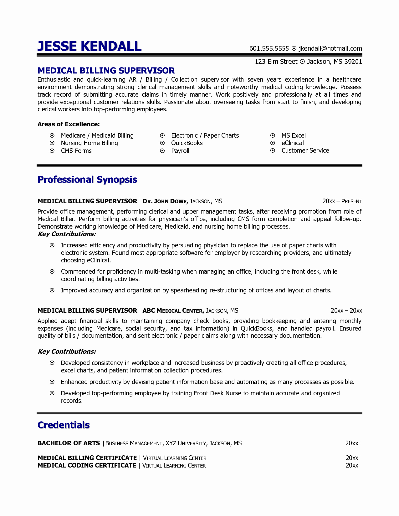 Billing and Coding Resume Unique Medical Billing and Coding Resume Example