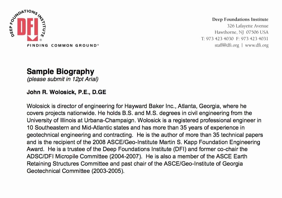 Biographical Sketch Example for Scholarship Inspirational 45 Biography Templates & Examples Personal Professional