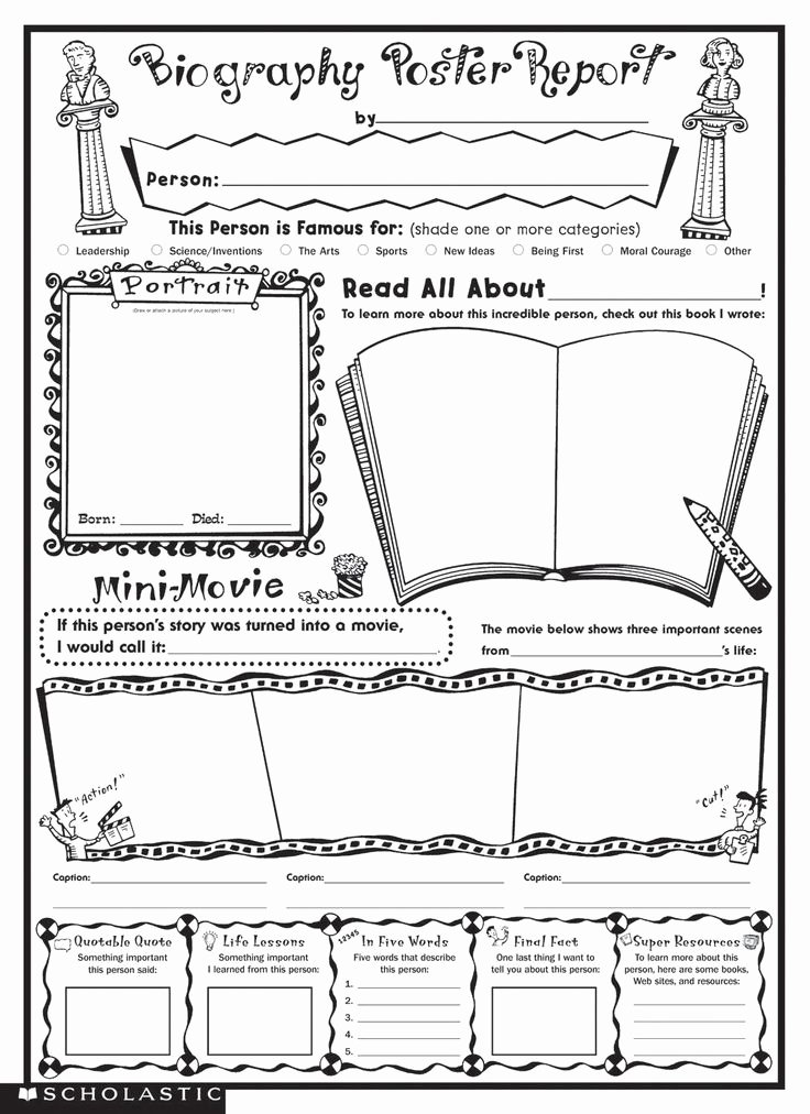 Biography Report Outline Beautiful 25 Best Ideas About Autobiography Template On Pinterest