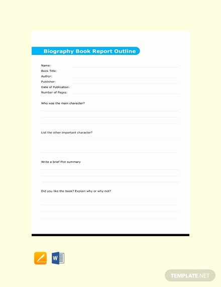 Biography Report Outline Luxury 24 Free Outline Templates