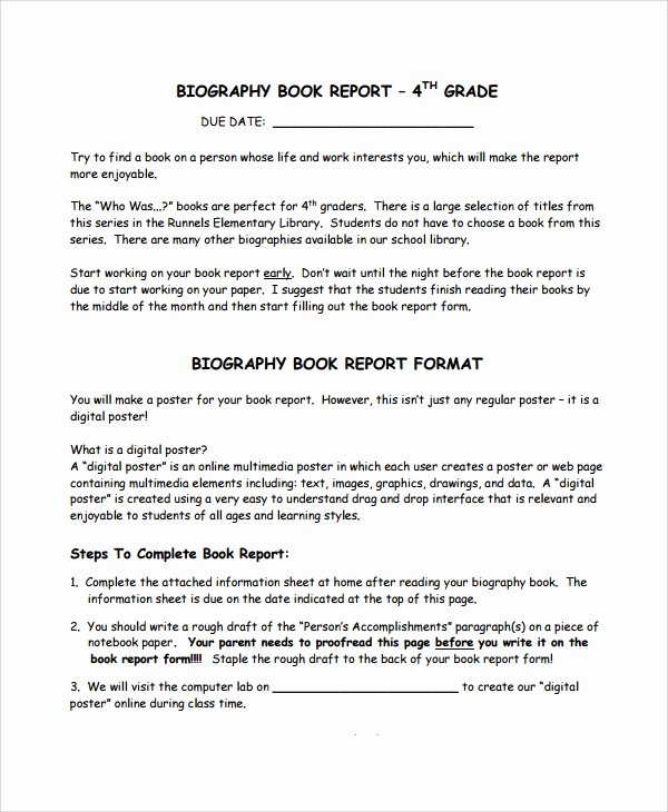 Biography Report Outline Unique 8 Biography Report Templates