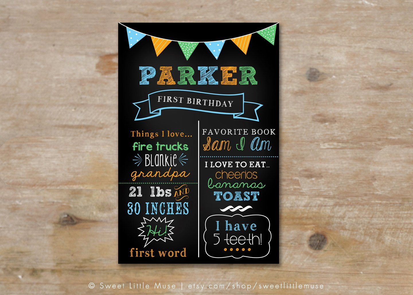 Birthday Chalkboard Template Beautiful First Birthday Chalkboard Template Chalkboard Birthday Sign