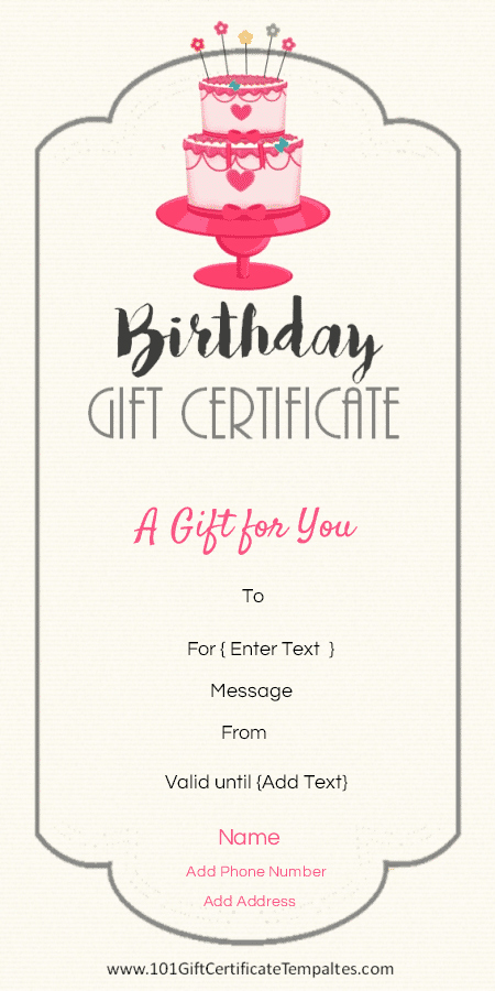 Birthday Coupons Template Best Of Birthday Gift Certificate Templates 101 Gift Certificate
