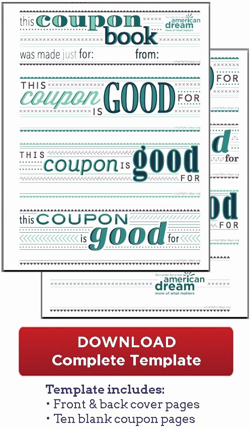 Birthday Coupons Template Best Of Coupon Book Download Great for the Boys