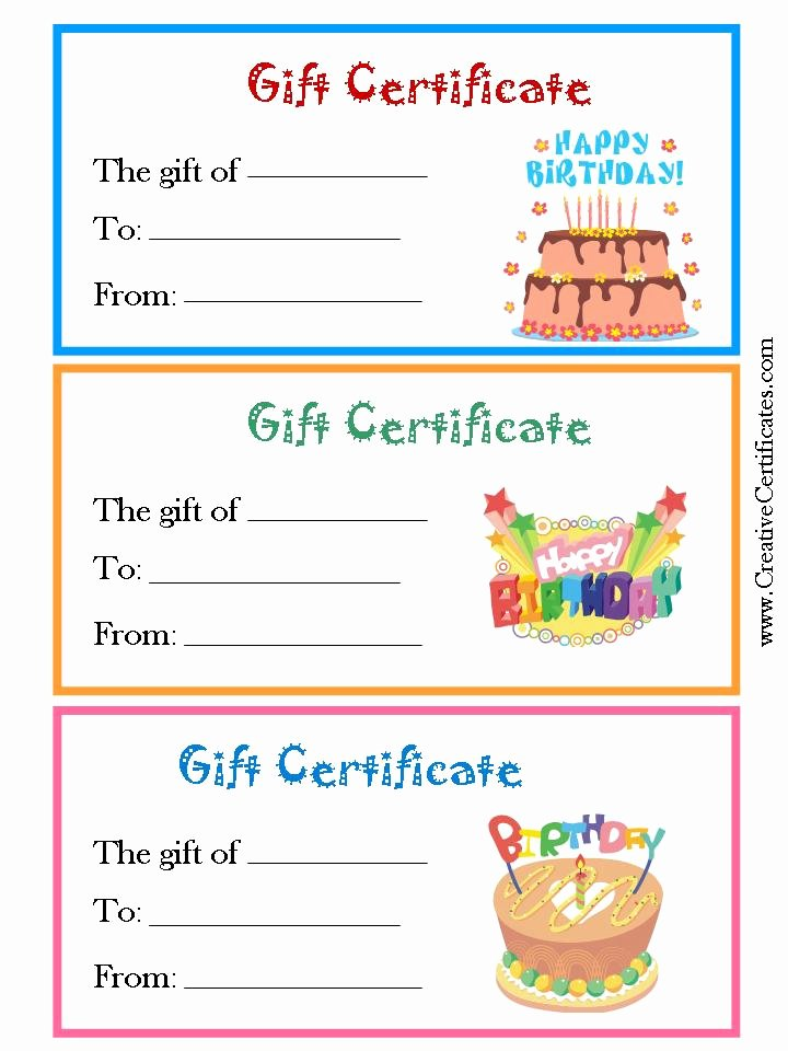 Birthday Coupons Template Best Of Printable Gift Certificate Birthday