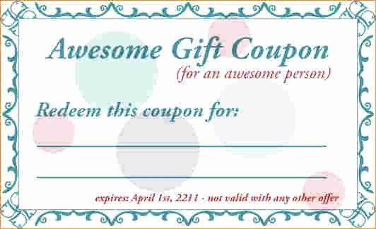 Birthday Coupons Template Elegant Birthday Coupon Template
