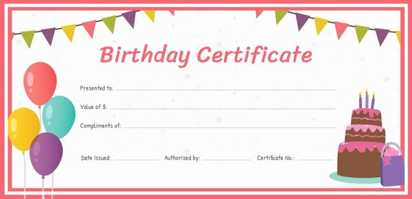 Birthday Coupons Template Fresh 20 Birthday Gift Certificate Templates Free Sample