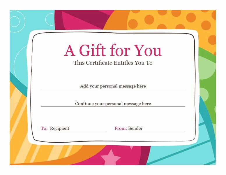 Birthday Coupons Template Fresh Birthday T Certificate Bright Design