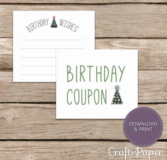 Birthday Coupons Template Inspirational 25 Birthday Coupon Templates Psd Ai Indesign Word