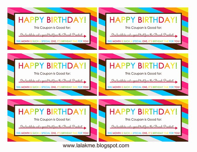 Birthday Coupons Template Inspirational Free Printable Birthday Coupons Overstuffed