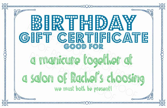 Birthday Coupons Template Luxury 23 Birthday Certificate Templates Psd Eps In Design