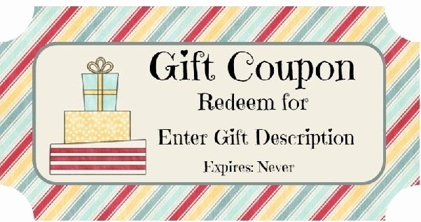 Birthday Coupons Template New Free Birthday Gift Certificate Template