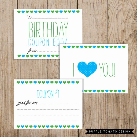 Birthday Coupons Template Unique 45 Coupon Book Templates Free Psd Ai Vector Eps
